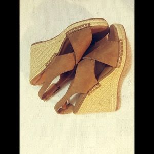 Light Brown Suede Casual Wedge